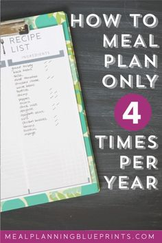 How to meal plan onl