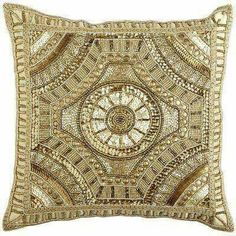 Calico Gold Beaded Medallion Pillow from Pier 1 imports. Saved to Zucchero (Home). Custom Pillows, Decorative Pillows, Decorative Objects, Burgundy And Gold, Pillow Talk, Pillow Fight, Soft Furnishings, Home Decor Accessories, Gold Beads