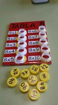 Interactive multiplication math Could change to be more difficult, addition, division, or subtraction. This is a fun way to help with multiplication. This is a and concrete lesson. Math Games, Preschool Activities, Student Games, Counting Activities, Word Games, Math For Kids, Crafts For Kids, Math Multiplication, Math Math