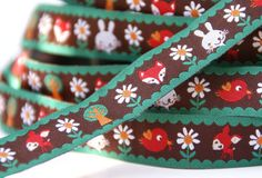 woven ribbon 'Summerforest' brown by ByBora on Etsy, $2.50