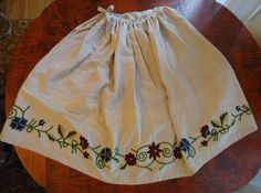 Sew Century: Curtain-Along: Under Petticoat (made with embroidered valences - brilliant! 18th Century Dress, 18th Century Clothing, Curtains, Embroidery, Projects, Clothes, Collection, Dresses, Women