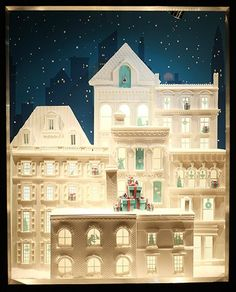 That blue could only come from one place. Oh, that blue.  Christmas windows from Tiffany's, London.