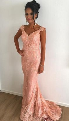 Lace V-Neck Prom Dress,Sexy Prom Dress,Mermaid Evening Dresses #prom #promdress #dress #eveningdress #evening #fashion #love #shopping #art #dress #women #mermaid #SEXY #SexyGirl #PromDresses