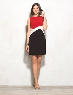 Colorblock Sheath Dress | dressbarn