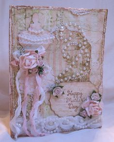 Shabby Vintage Chic Mother's Day Card - who's mother would not like this?