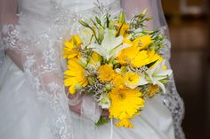 Yellow Wedding Flowers - Bouquet  #bouquet #yellow #flowers spring flower, in season= less expensive and beautiful!