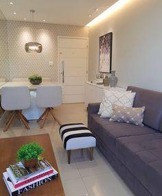 Sala que inspira 🖤Filhote Zebra Small Apartment Interior, Interior Design Living Room, Living Room Decor Colors, Bedroom Decor, Hall Furniture, Dining Room Design, Home And Living, Decoration, Home Decor