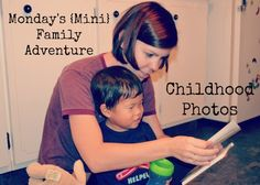 famiglia: Monday's {Mini} Family Adventure - Childhood Photos: Create a small photo album for your child to look at that incorporates some of your favorite childhood memories.