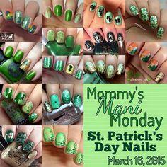 """All these St Patrick's Day nails!! #mommysmanimonday @mommysmanimondaygroup"""