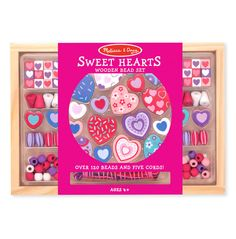 The Melissa and Doug Sweet Hearts Bead Set is a great Valentine's Day gift idea for girls and kids!