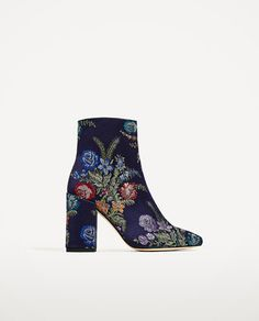 Image 2 of EMBROIDERED DETAIL ANKLE BOOTS from Zara