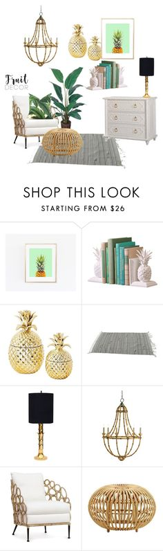 """""""Pineapple Decor Inspiration"""" by talk56 ❤ liked on Polyvore featuring interior, interiors, interior design, home, home decor, interior decorating, Lilly Pulitzer, Palecek, Sika and pineapple"""