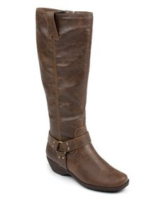 Look what I found on #zulily! Dark Brown In-An-Instint Wide-Calf Boot by A2 by Aerosoles #zulilyfinds