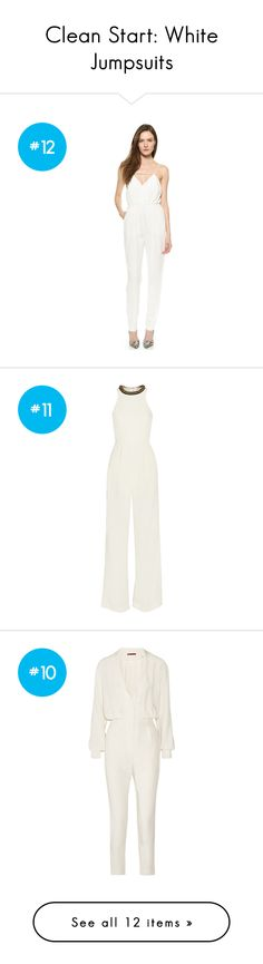 """""""Clean Start: White Jumpsuits"""" by polyvore-editorial on Polyvore"""