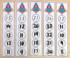 Counting Backwards Write & Wipe Cards