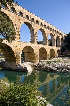 UNESCO world heritage site - Pont du Gard-France