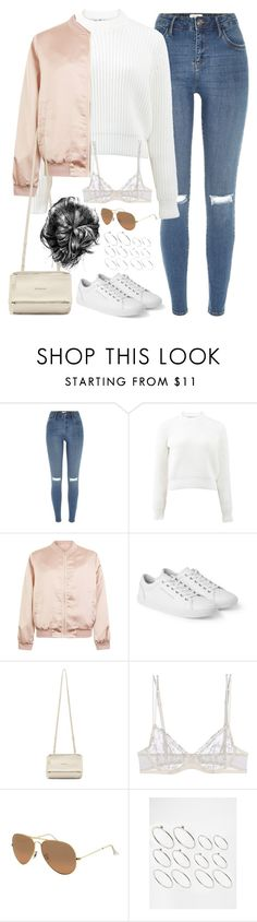 """Untitled#4522"" by fashionnfacts ❤ liked on Polyvore featuring River Island, T By Alexander Wang, Cameo Rose, Dolce&Gabbana, Givenchy, La Perla, Ray-Ban and ASOS"