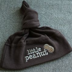 Little Peanut Baby Knot Hat  Chocolate by cottoncupcakeshoppe, $13.00