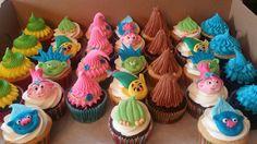 Troll cupcakes#trolls #trollcupcakes #yummydelicious #cupcakes #jennaroushcakes