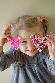 Simple yarn heart ga