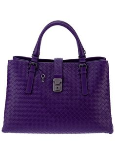 Bottega Veneta weaved bag in purple for AW12