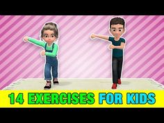 Here are 14 of the best exercises for kids to do at home, in order to get active, burn fat, build muscle and get stronger. Kids need daily physical activity . Physical Activities For Kids, Elementary Physical Education, Kindergarten Activities, Preschool Activities, Preschool Lessons, Preschool Learning, Yoga For Kids, Exercise For Kids, Learning Websites For Kids