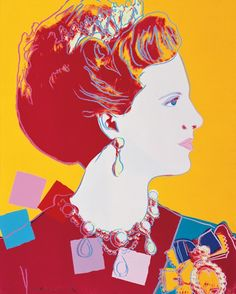 H.M. Queen Margrethe II of Denmark by Warhol