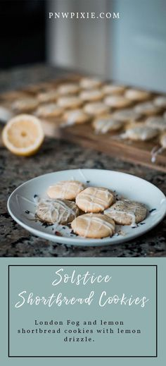 These London fog and lemon shortbread cookies are delicious, and are the perfect treat for celebrating the summer solstice! Happy Solstice, Summer Solstice, Lemon Shortbread Cookies, Lemon Drizzle, Earl Grey Tea, Dessert Recipes, Desserts, Good Food, Awesome Food