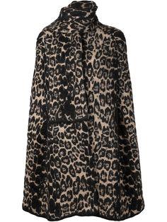 Sonia rykiel Leopard Cape Coat in Brown