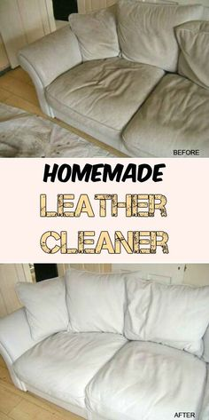 Homemade leather cleaner - Cleaning Tips White Leather Cleaner, Natural Leather Cleaner, Clean White Leather, Diy Leather Couch Cleaner, Homemade Cleaning Products, Household Cleaning Tips, Cleaning Recipes, Cleaning Hacks, Diy Cleaners