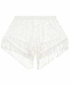 Korean Style Lace Tassels Loose Fit Shorts - Clothing