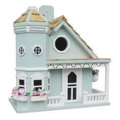 NEW - Flower Pot Cottage Birdhouse