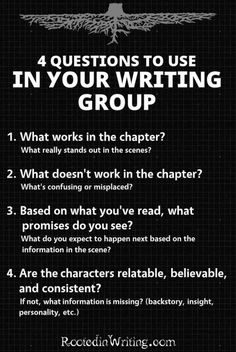 RW Blog | Questions to ask your writing group or beta readers