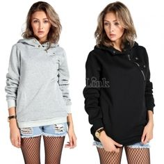 2014 Fashion Casual Sport Sweater Coat Pullover Hood Girls Hoodies Sweatshirt