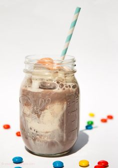 VANILLA ICE AND CHOCOLATE DRINK Get the easy recipe and more inspiration on www.ohhappydane.com
