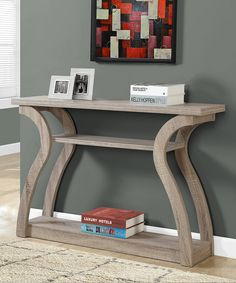 Look at this Monarch Specialties Dark Taupe Curve Console Table on #zulily today!