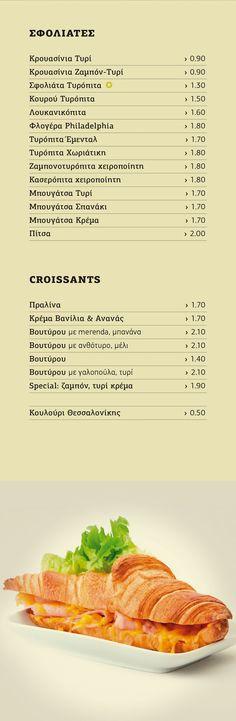 BeFresh | Menu Espresso Bar, Croissants, Cantaloupe, Menu, Fresh, Food, Menu Board Design, Crescents, Eten