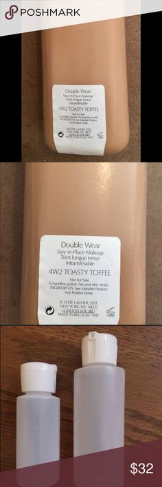 Estée Lauder Double Wear Toasty Toffee 4W2 1oz This is great for olive complexions w warm or yellow undertones. If you buy something else, I can send you a free sample. ❌Trades ❌No Low Balls. 2 ounces bottles also available. 2 oz is less. Estee Lauder Makeup Foundation