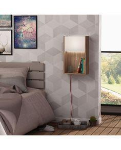 Led Lighted Wall Shelf - Bling - Sonomo/White - Homitis