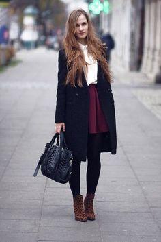 Resultado de imagem para coats to wear with short skirts