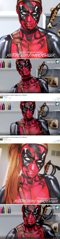DEADPOOL BODY PAINT!