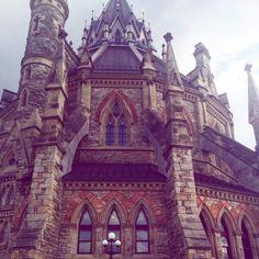Ottawa parliament library - stone building