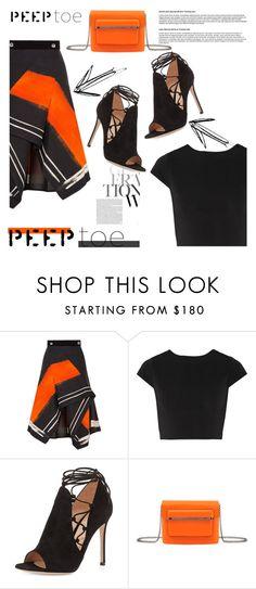 """Peep-Toe Pumps"" by nazan-m ❤ liked on Polyvore featuring Peter Pilotto, Alice + Olivia, Gianvito Rossi, Mary Katrantzou, peeptoe and polyvoreeditorial"