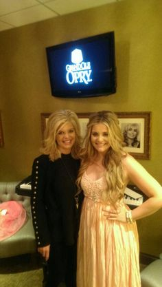 Lauren Alaina with her mother Kristy back stage at the Grand Ole Opry, (April 21, 2015).