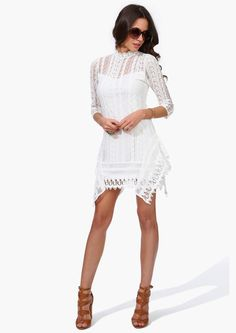 Isabel Lace Dress in Ivory | Necessary Clothing