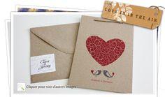 Faire part de mariage thème nature en papier recyclé theme oriental loveisintheair - wedding invitation - recycles paper - kraft