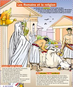 Science infographic and charts Educational infographic : Les Romains et la religion. Ancient Rome, Ancient History, Rome Antique, French Language Learning, Spanish Language, Empire Romain, Les Religions, Religious Studies, Teaching French