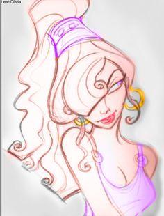 Colored meg concept art