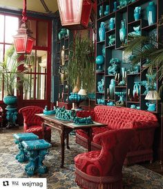 In the winter garden of Jacques Garcia's Champ de Bataille, a collection of iridescent and turquoise-glazed ceramics by Clément Massier lines a salon. Garcia intends to open the 988-acre estate to more and more visitors in the hope that it will one day become self-sustaining. Although he's revealed bits of the historic house to paying guests from his earliest days in residence, the move will represent a departure from the life he and partner Patrick Pottier...