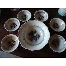 Tigela De Porcelana - Saladeira Com Cumbucas Para Sobremesa (IRFM 180,00)